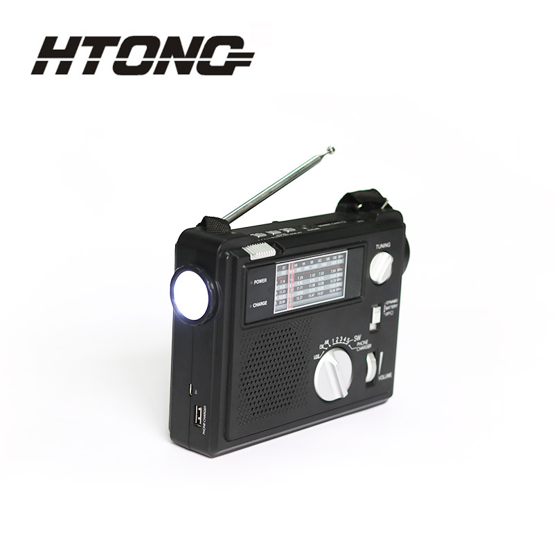 HTong long lasting hand crank emergency radio online for indoor-3
