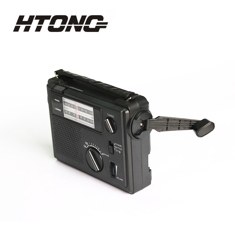 customized emergency crank radio ht800 player for hotel-4