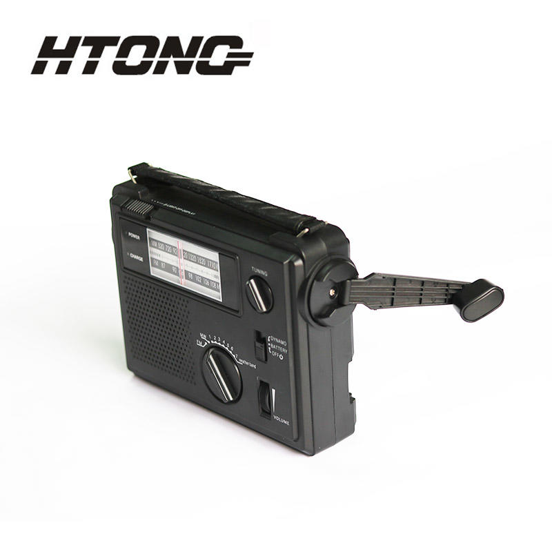 customized emergency crank radio ht800 player for hotel