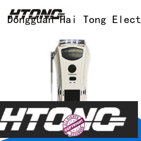 Hai Tong flashlight crank flashlight radio directly price for indoor