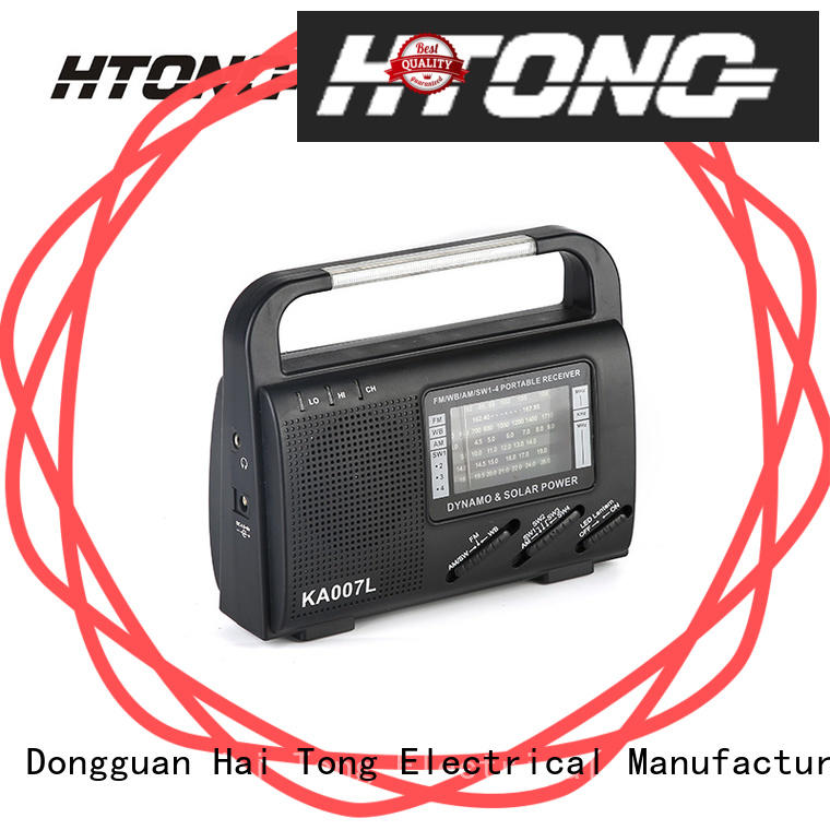 Hai Tong good quality solar powered portable radio ht888 for house