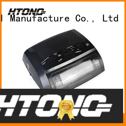 Hai Tong quality clock radio with usb directly sale for hotel