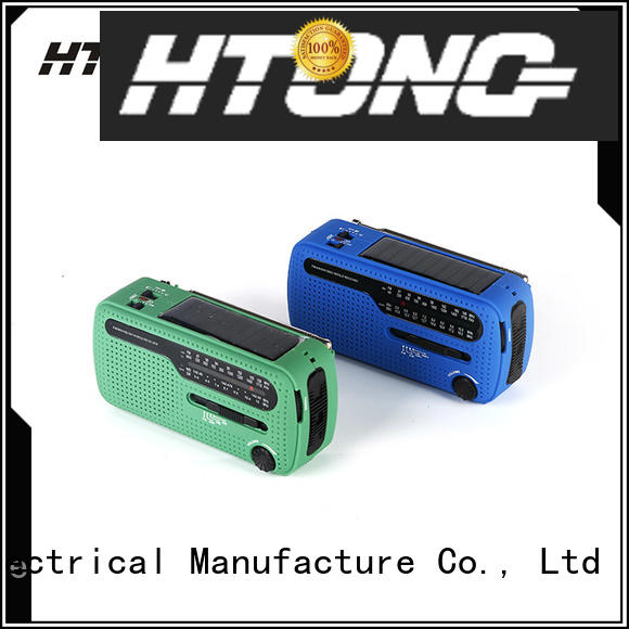 Hai Tong simple solar powered emergency radio factory price for hotel
