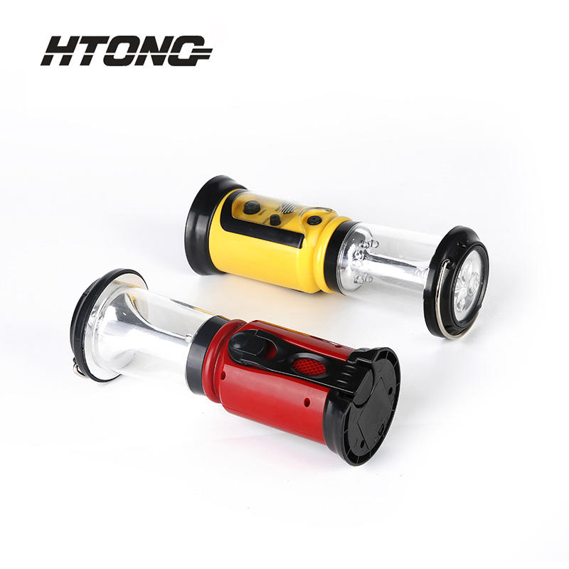 Rechargeable Camping Emergency Light Hand-Cranked Charging Radio HT-600