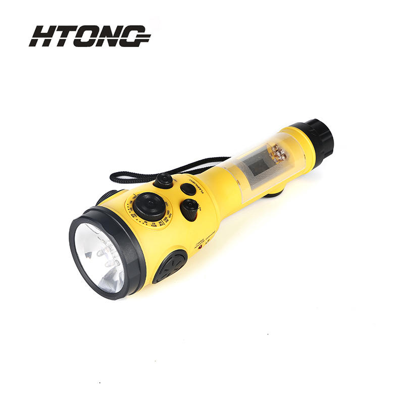 Portable Flashlight Hand-Cranked Charging Radio HT-3068