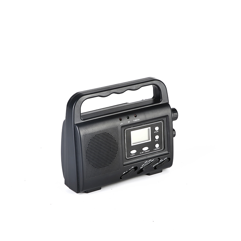 HTong sw solar emergency radio easy to use for outdoor-3
