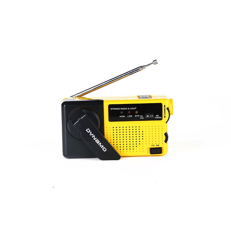 Custom band hand crank radio flashlight digital Hai Tong