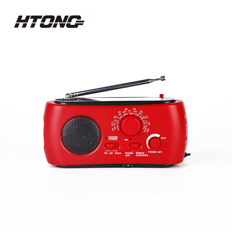 Led Lamp Outdoor Emergency Solar Dynamo Radio HT-333