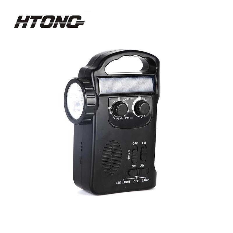 All Word Band LED Flashlight 12V Solar Dynamo Radio HT-658
