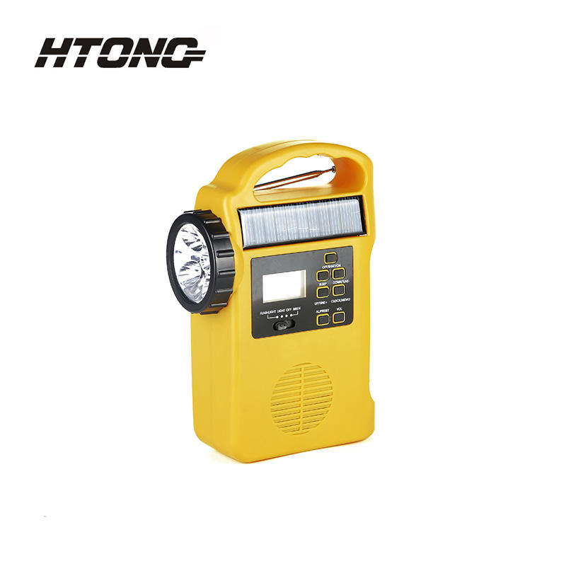 LED Flashlight Portable Emergency Solar Dynamo Radio HT-666