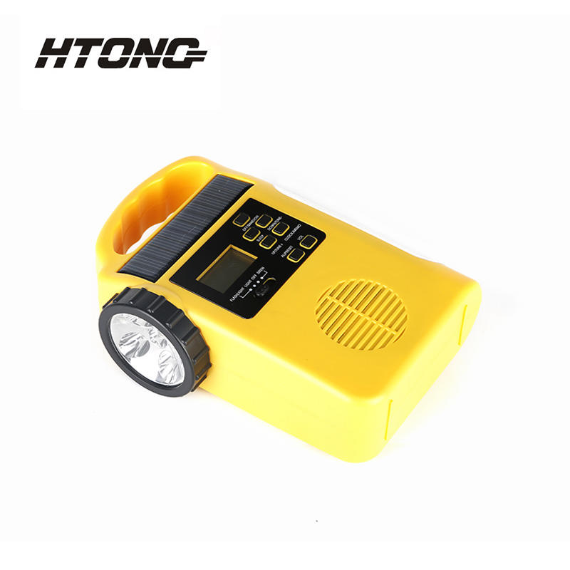 LED Flashlight Portable Emergency Solar Dynamo Radio HT-666