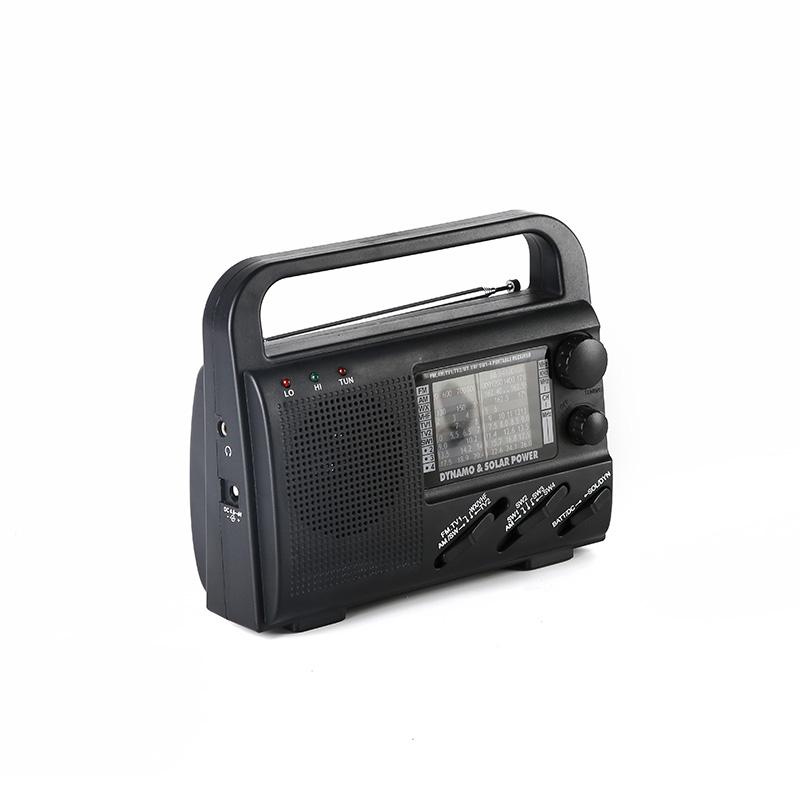 professional solar powered emergency radio flashlight promotion for outdoor-1