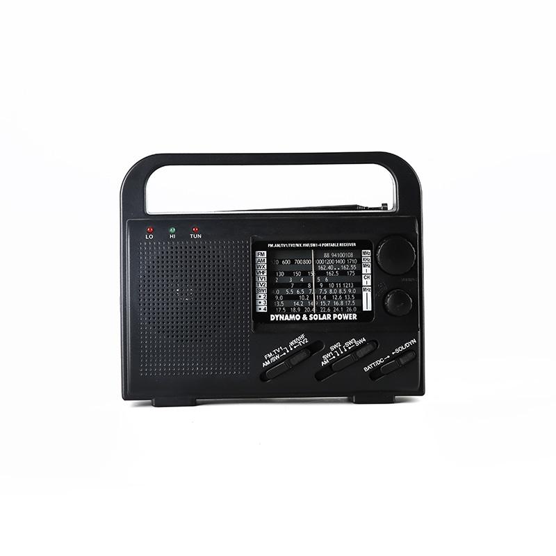 professional solar powered emergency radio flashlight promotion for outdoor-2