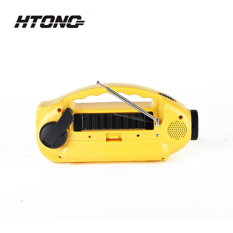 AM/FM Hand Crank Flashlight Solar Dynamo Radio HT-898