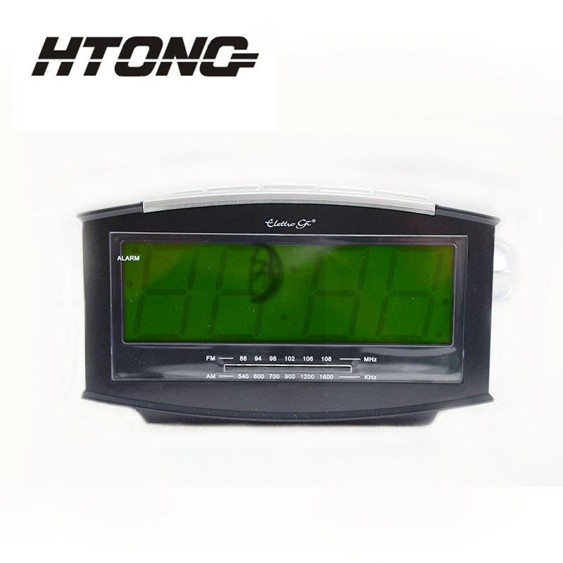 Dual Buzzer Snooze Sleep Function Clock Radio HT-003