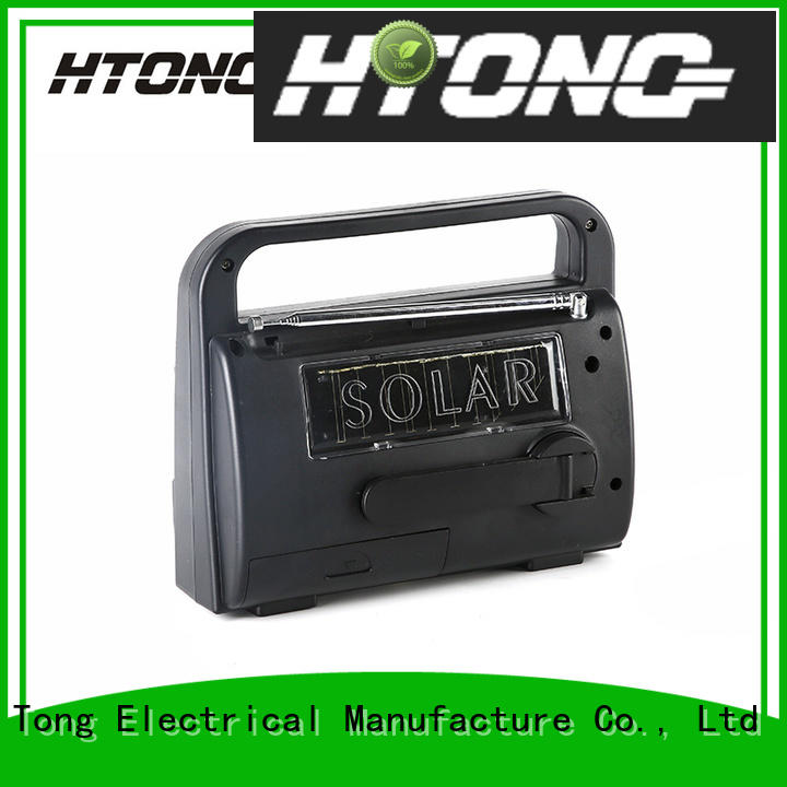 Hai Tong portable solar emergency radio easy to use for outdoor