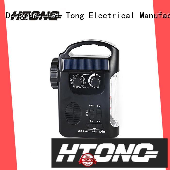 Hai Tong crank solar powered emergency radio promotion for hotel