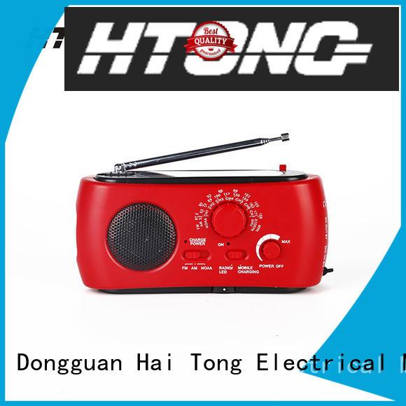 Hai Tong portable solar hand crank radio factory price for outdoor
