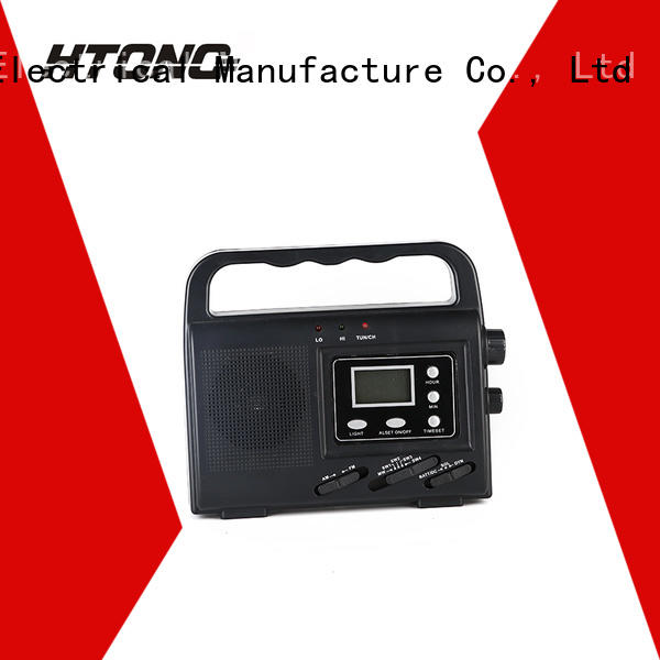 HTong portable solar emergency radio easy to use for house