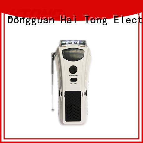 HTong flashlight crank radio directly price for hotel