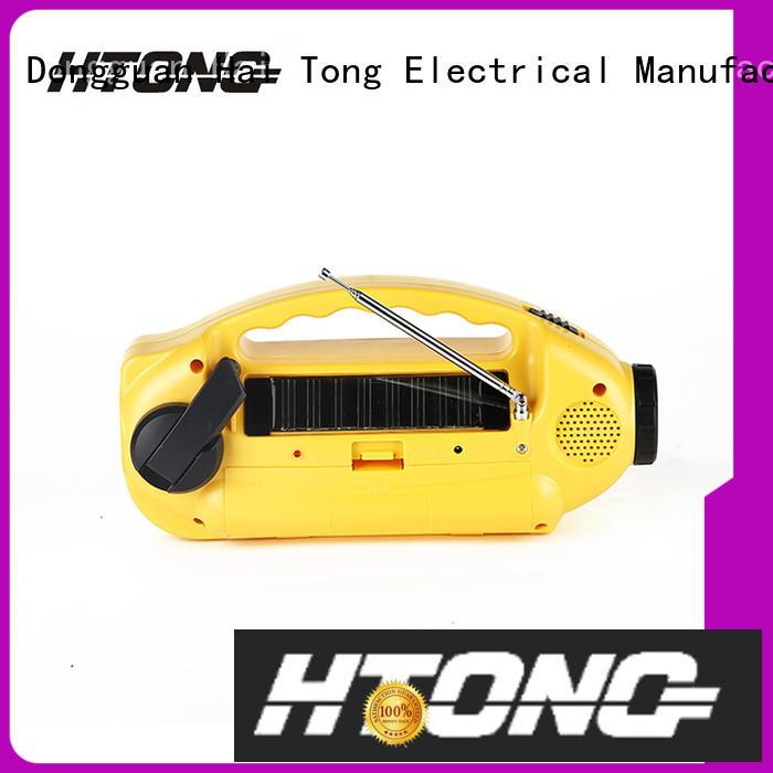 Hai Tong good quality solar crank radio on sale for home