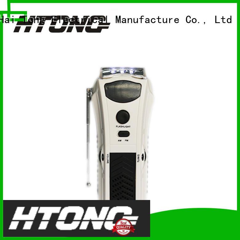 Hai Tong sensitivity crank flashlight radio player for indoor