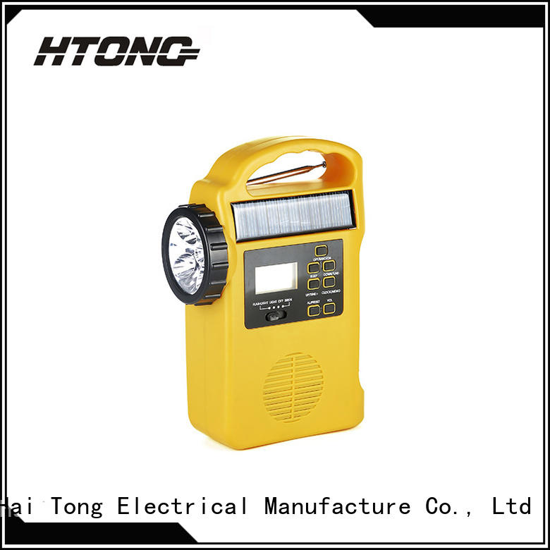 HTong 12v solar radio easy to use for hotel