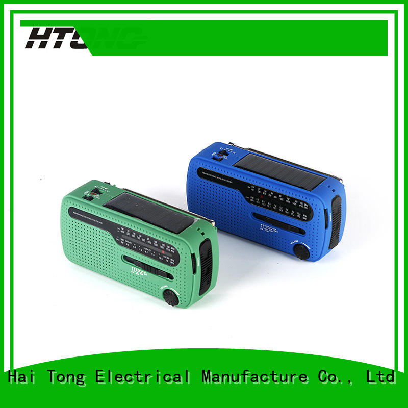 portable solar crank radio ht777 easy to use for outdoor