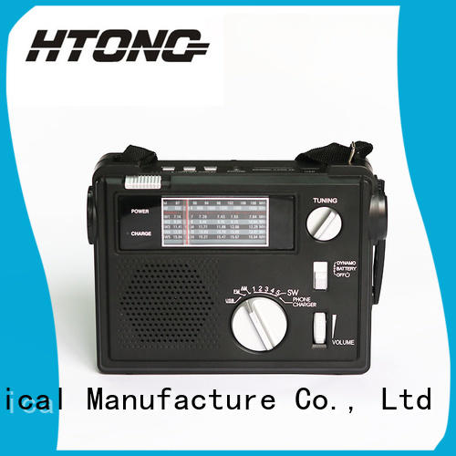 HTong band hand crank emergency radio online for indoor
