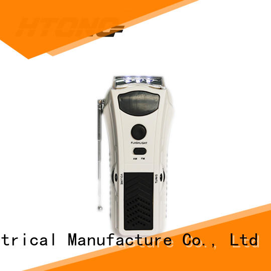 HTong long lasting emergency crank radio directly price for hotel