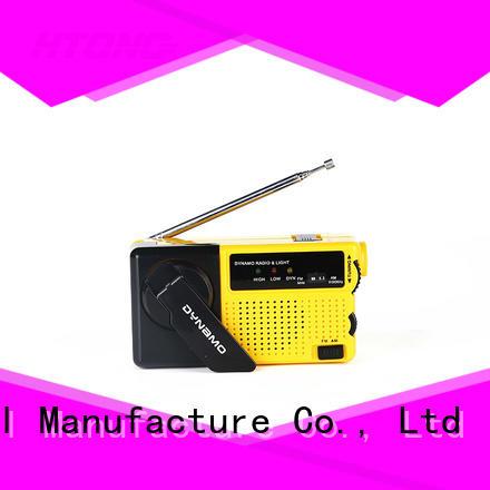 HTong efficient crank flashlight radio design for home