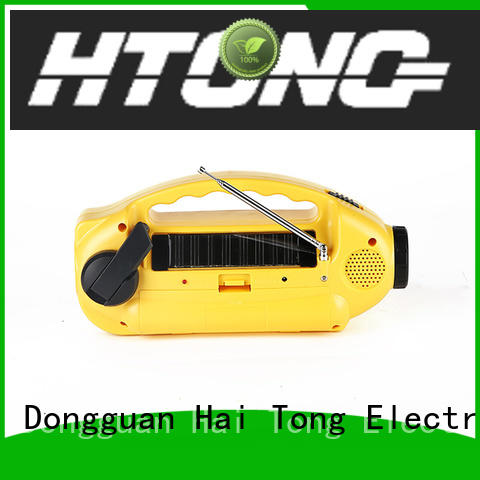 Hai Tong simple solar emergency radio promotion for outdoor