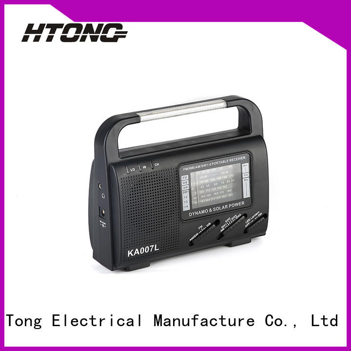HTong professional dynamo and solar radio from China for hotel