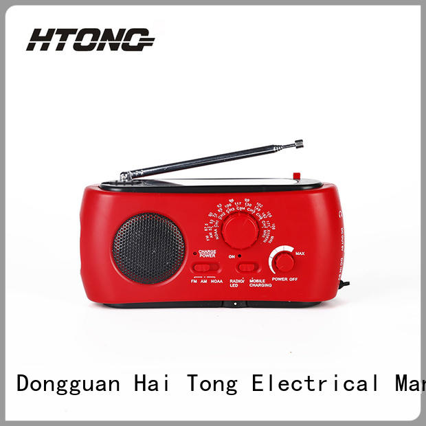 Hai Tong Brand rechargeable frequency emergency radios with cell phone charger word factory