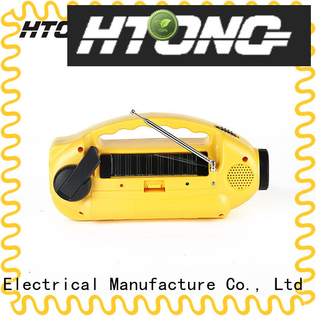Hai Tong charger solar crank radio easy to use for hotel