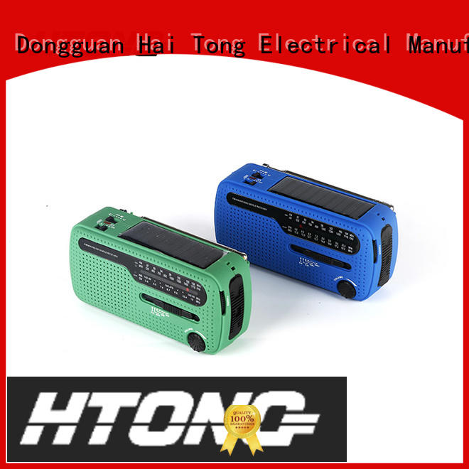Hai Tong good quality emergency solar hand crank radio easy to use for outdoor