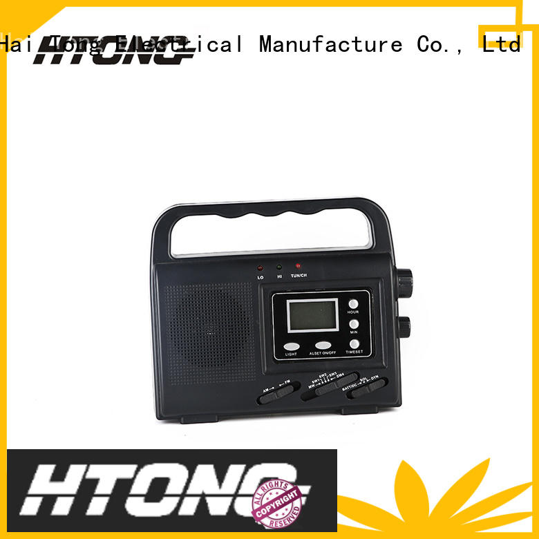 Hai Tong good quality emergency solar hand crank radio weather for home