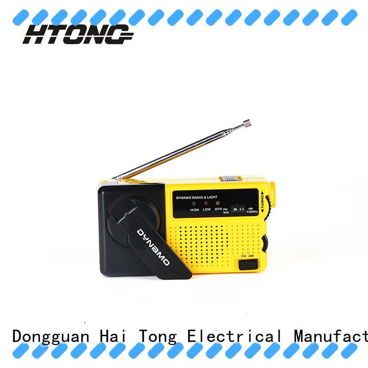 HTong handcranked emergency crank radio directly price for indoor