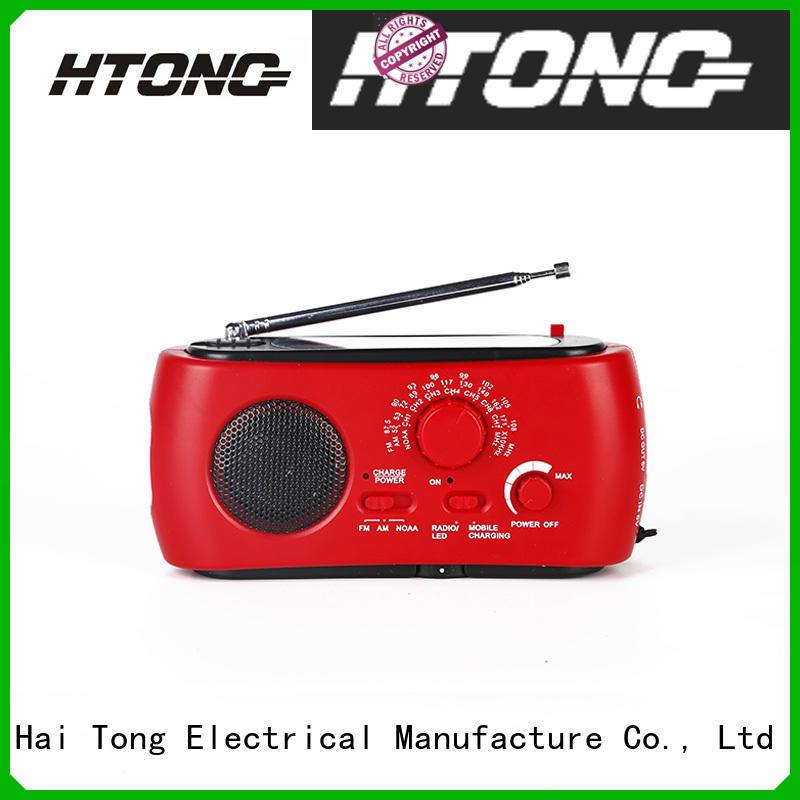 Hai Tong portable solar hand crank radio easy to use for home