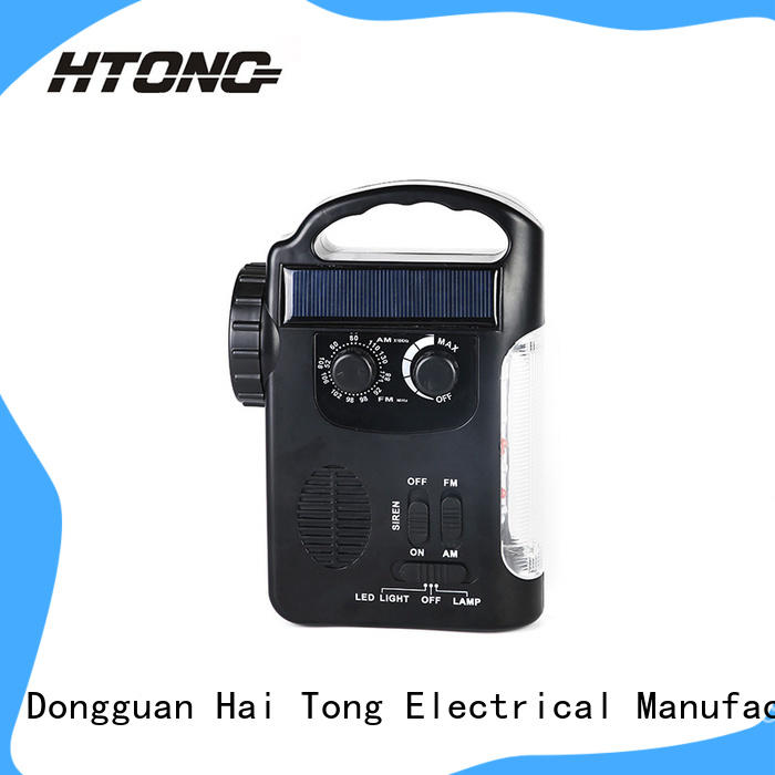 HTong phone solar emergency radio promotion for outdoor