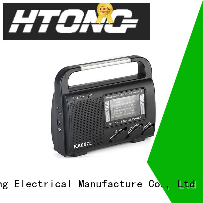 Hai Tong good quality dynamo radio factory price for outdoor