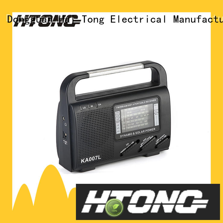 Hai Tong ht888 solar powered digital radio from China for outdoor