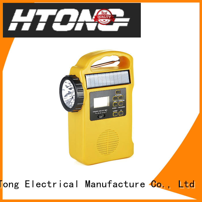 portable solar emergency radio ht658 easy to use for home