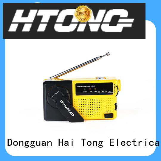 Hai Tong handcranked emergency crank radio player for hotel