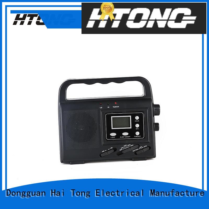 Hai Tong crank solar powered emergency radio from China for hotel