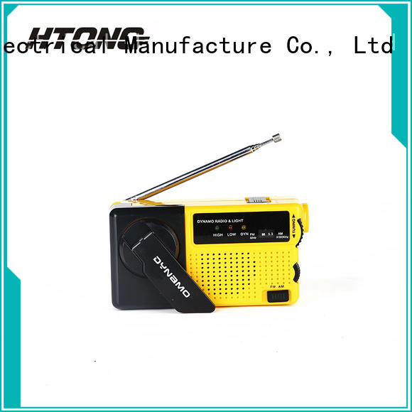 portable emergency hand cranked radio with cell phone charger rechargeable function Hai Tong Brand