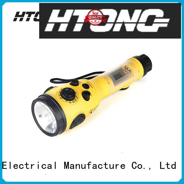 Hai Tong dance crank flashlight radio player for hotel