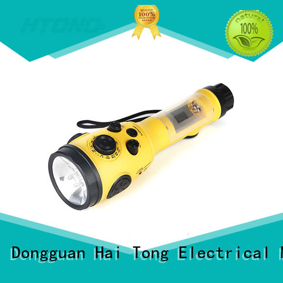 hand cranked radio with cell phone charger rechargeable function hand crank radio flashlight Hai Tong Brand