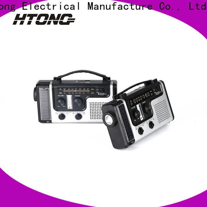 HTong portable solar hand crank radio on sale for home