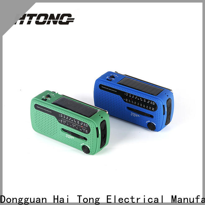 HTong fm solar powered emergency radio from China for house
